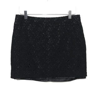 Forever21 Size Large Black Lace Women's Mini Skirt